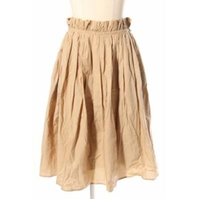 【中古】デミルクス ビームス Demi-Luxe BEAMS 17SS コットン ギャザー スカート /sh0419 レディース