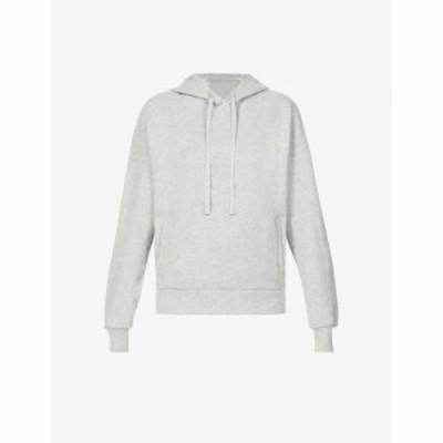 アローヨガ ALO YOGA レディース パーカー トップス Interval branded cotton-blend hoody Dove Grey Heather