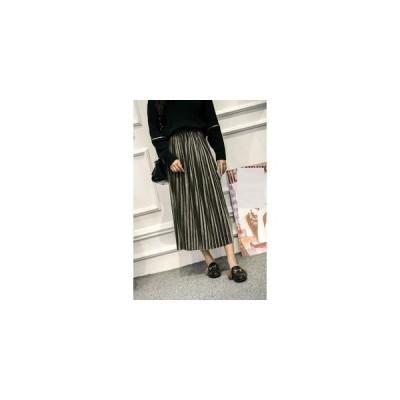 【セール】カジュアル系 レディスファッション洋服 WE お洒落 無地 ベロア生地 プリーツスカート 女子用 30代 40台 4色選べる Q891