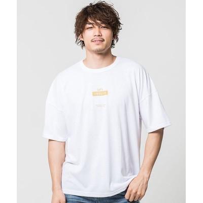 【シルバーバレット】 CavariAストレートラインプリント半袖Tシャツ メンズ ホワイト 44(M) SILVER BULLET