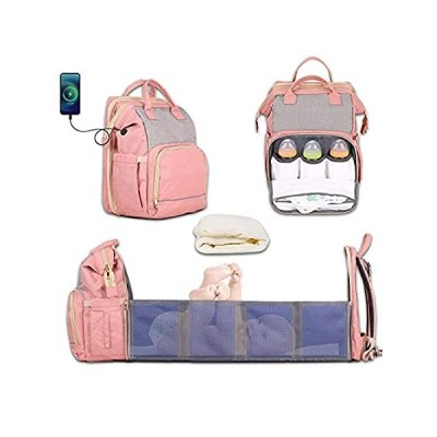 Newborn Diaper Backpack for 0-6 Months Foldable Baby Travel Bed with Changi好評販売中
