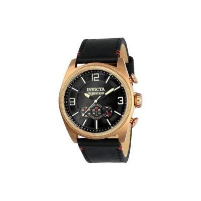 インヴィクタ INVICTA メンズ アビエイター ブラック スチール ブレスレット ケース クォーツ アナログ 腕時計 22986