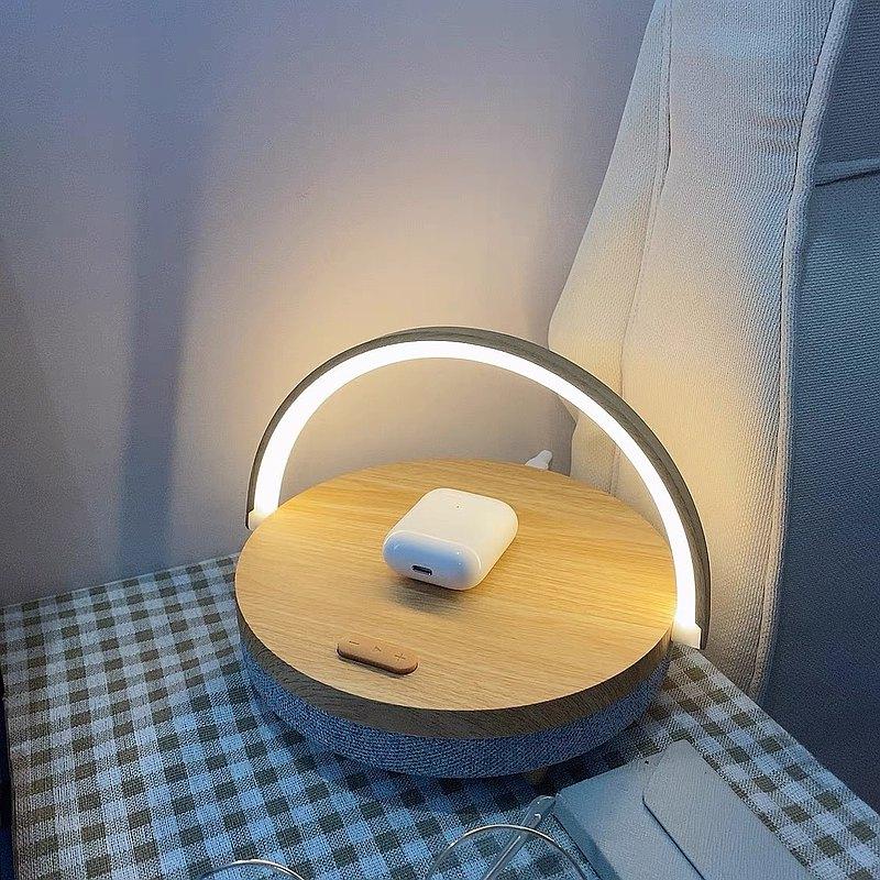 【免運-限時95折】幾光床頭燈臥室智無線充電便攜藍牙音箱