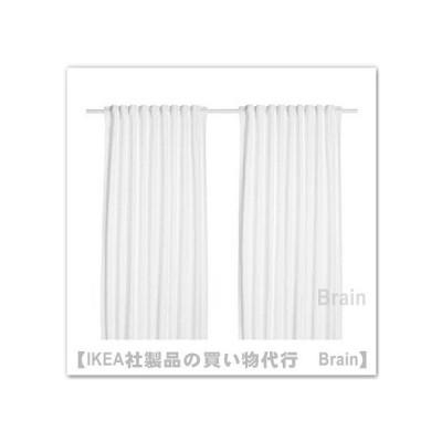 IKEA/イケア TIBAST/ティバスト カーテン1組145x250 cm ホワイト