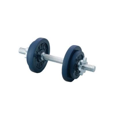ダンベル 10Kg 1個 NK2710 滑りにくい シャフト ねじ 調整 プレート 筋肉 可変 トレーニング