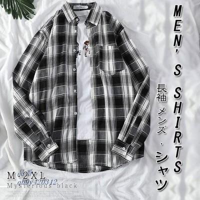 人気新作 カジュアルシャツ メンズ おしゃれ トップス ワイシャツ シンプル 長袖 ビジネススタイル