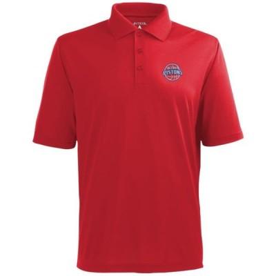 ユニセックス スポーツリーグ バスケットボール Antigua Detroit Pistons Pique Xtra-Lite Performance Polo - Red Tシャツ