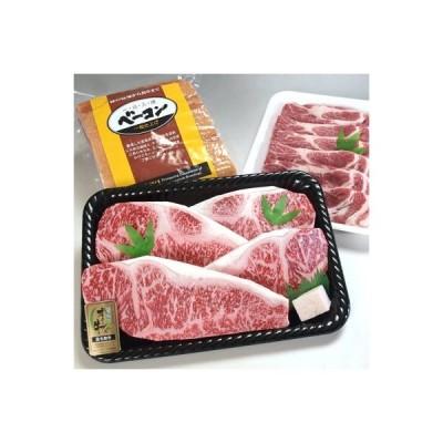 三豊市 ふるさと納税 オリーブ牛ステーキ200gx4枚、香川産豚肩ロース500g、自社工場製造ベーコン1kg
