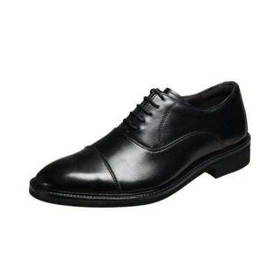 アビーロード7502ブラックストレートチップビジネスシューズ紐付き紳士靴