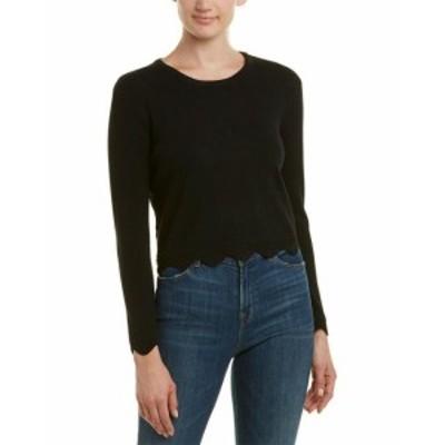 ファッション トップス English Factory Scalloped Sweater S Black