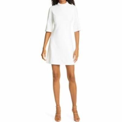 アリス アンド オリビア ALICE + OLIVIA レディース ワンピース ワンピース・ドレス Coley Mock Neck A-Line Minidress Off White