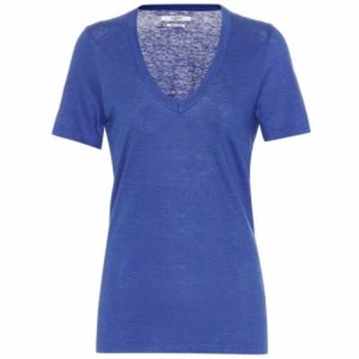 イザベル マラン Isabel Marant. Etoile レディース Tシャツ トップス Kranger linen T-shirt Blue