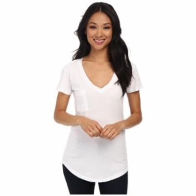 ラメイド LAmade レディース Tシャツ トップス V-Pocket Tee - Tissue Jersey White