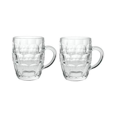 Arcoroc Britannia 2個セット イギリスガラス ビールマグ 20オンス/1パイント