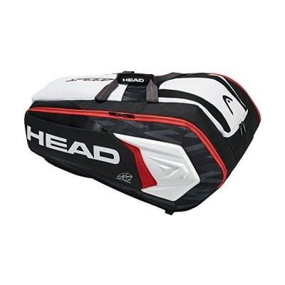 ヘッド(HEAD) テニス ラケットバッグ ジョコビッチ12Rモンスターコンビ ラケット12本収納可 283008 ブラック×ホワイト(BK