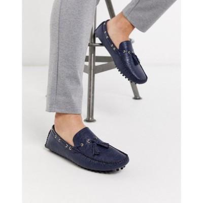 トリュフコレクション ローファー メンズ Truffle Collection tassel loafer in navyRRP  エイソス ASOS