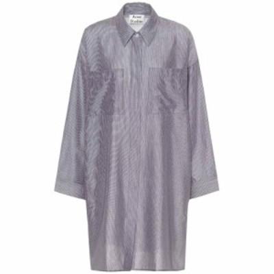 アクネ ストゥディオズ Acne Studios レディース ブラウス・シャツ トップス Jacqui striped cotton shirt White Pins