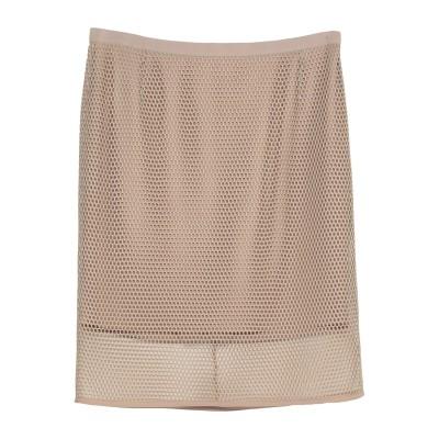 AKRIS PUNTO ひざ丈スカート ベージュ 42 ポリエステル 100% ひざ丈スカート