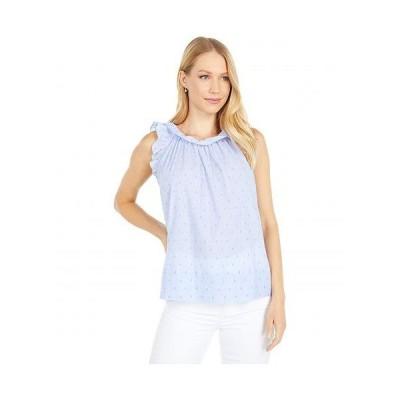 Lilly Pulitzer リリーピューリッツァー レディース 女性用 ファッション ブラウス Kirstin Top - Bluebell Chambray Neon Chambray Clip