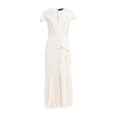 ローラン ムレ ROLAND MOURET ロングワンピース&ドレス ホワイト 10 レーヨン 50% / アセテート 47% / ポリウレタン 3