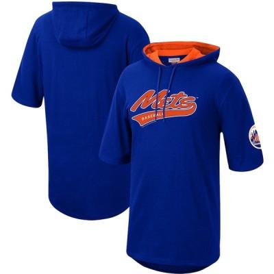 ニューヨーク・メッツ Mitchell & Ness Short Sleeve Pullover Hoodie - Royal