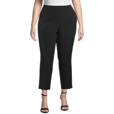カスパー カジュアルパンツ ボトムス レディース Plus Ankle Straight-Leg Pants Black