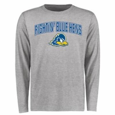 Fanatics Branded ファナティクス ブランド スポーツ用品  Delaware Fightin Blue Hens Ash Proud Mascot Long Sleeve T-Shirt