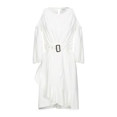 ANNARITA N TWENTY 4H ミニワンピース&ドレス ホワイト 42 レーヨン 53% / ナイロン 42% / ポリウレタン 5% ミ