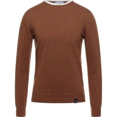 ベルナ BERNA メンズ ニット・セーター トップス Sweater Brown