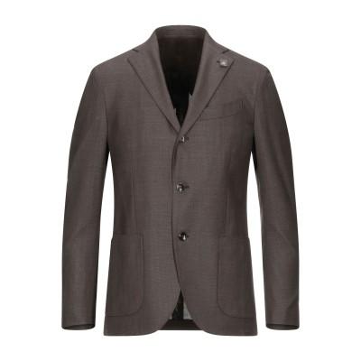 ラルディーニ LARDINI テーラードジャケット ダークブラウン 50 ウール 100% テーラードジャケット