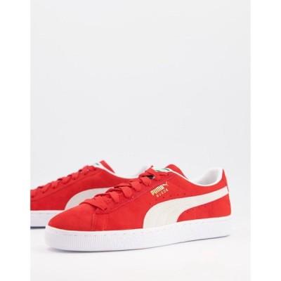 プーマ Puma メンズ スニーカー シューズ・靴 classic suede trainers in red レッド