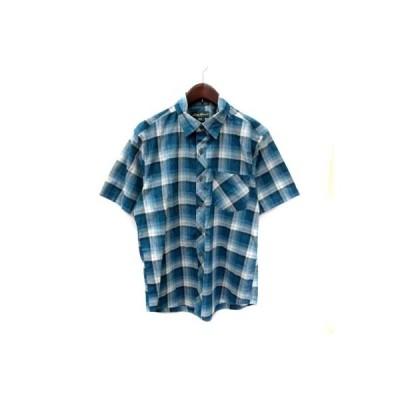 【中古】エディーバウアー EDDIE BAUER シャツ 半袖 チェック S マルチカラー /YI メンズ 【ベクトル 古着】