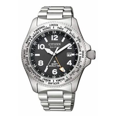 [シチズン] 腕時計 プロマスター エコ・ドライブ LANDシリーズ GMT BJ7100-(中古品)