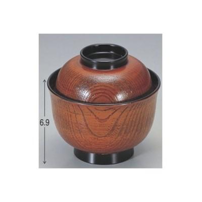小吸椀 姫小吸椀栃 漆器 高さ69 直径:100/業務用/新品