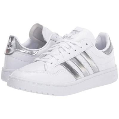 アディダス オリジナルス Team Court レディース スニーカー Footwear White/Silver Metallic/Footwear White