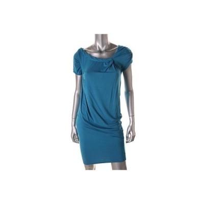 キャサリンマランドリーノ ドレス ワンピース キャットherine Malandrino 5667 レディース ブルー Jersey Ruched カジュアル ドレス 4 BHFO