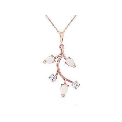 【新品】K14 Rose Gold Necklace with Opals and Aquamarines