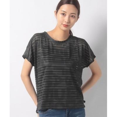 【デシグアル】 Tシャツ TEE STRIPES PATCH レディース ブラック系 M Desigual
