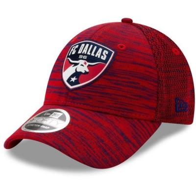 ユニセックス スポーツリーグ サッカー FC Dallas New Era On-Field Collection 9FORTY Stretch Adjustable Snapback Hat - Red - OSFA