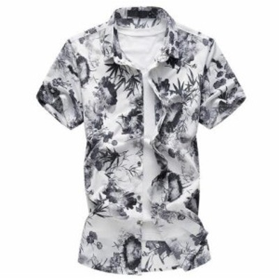 メンズ 花柄シャツ お洒落 半袖 花柄 シャツ カジュアルシャツ 大きいサイズもあり 愛用 細身 3色【M~6XL】