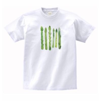 食べ物 野菜 Tシャツ アスパラガス 白