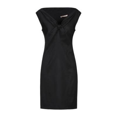 KARL ミニワンピース&ドレス ブラック 42 バージンウール 98% / ポリウレタン 2% ミニワンピース&ドレス