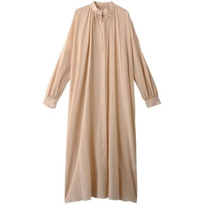 Whim Gazette ウィム ガゼット コットンシフォンギャザーシャツドレス レディース サーモンピンク F