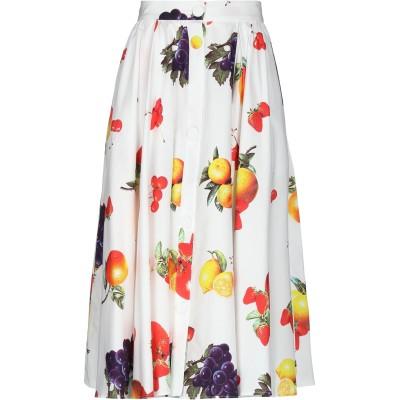 エムエスジーエム MSGM 7分丈スカート ホワイト 38 コットン 100% 7分丈スカート