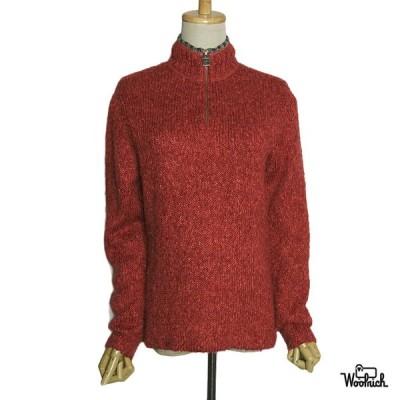 Woolrich ハーフジップ セーター ニット ウールリッチ レディース Sサイズ 古着 長袖