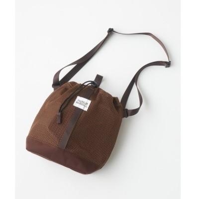 ショルダーバッグ バッグ 【FRANKLIN & MARSHALL/フランクリンマーシャル】メッシュポーチショルダーバッグ/巾着バッグ