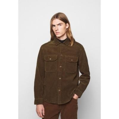 クローズド シャツ メンズ トップス ARMY OVER SHIRT - Shirt - chocolate brown