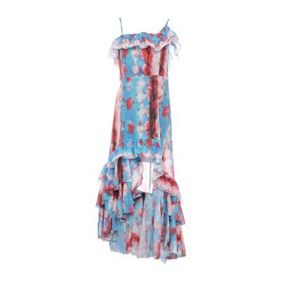 SOALLURE ミニワンピース&ドレス ブルー 40 コットン 100% ミニワンピース&ドレス
