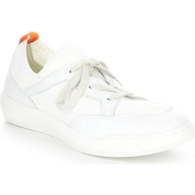 フライロンドン SOFTINOS BY FLY LONDON レディース スニーカー シューズ・靴 Fly London Beae Sneaker White Knit Fabric