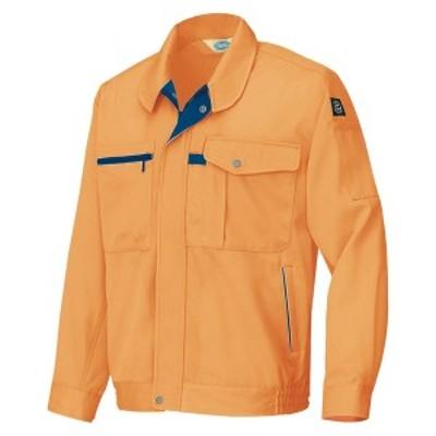 アイトス:エコ交織マルチワーク 長袖ブルゾン(男女兼用) オレンジ LL 6360